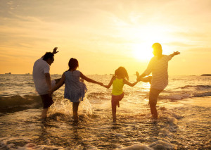 41159054 - happy family enjoy summer vacation on the beach