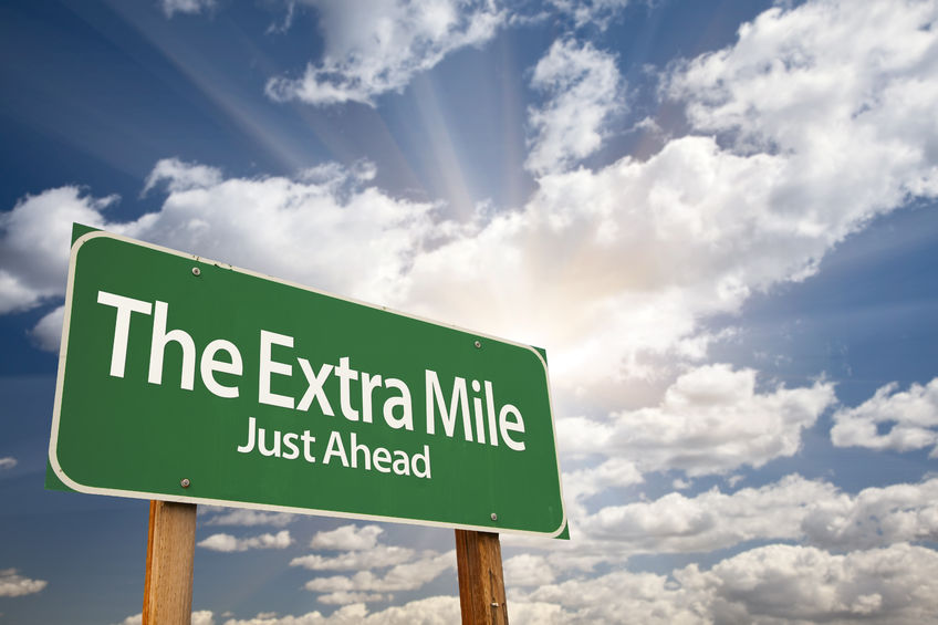 What does it mean to go the extra mile?